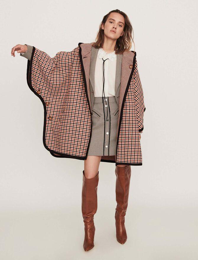 Abrigo tipo poncho reversible -  - MAJE
