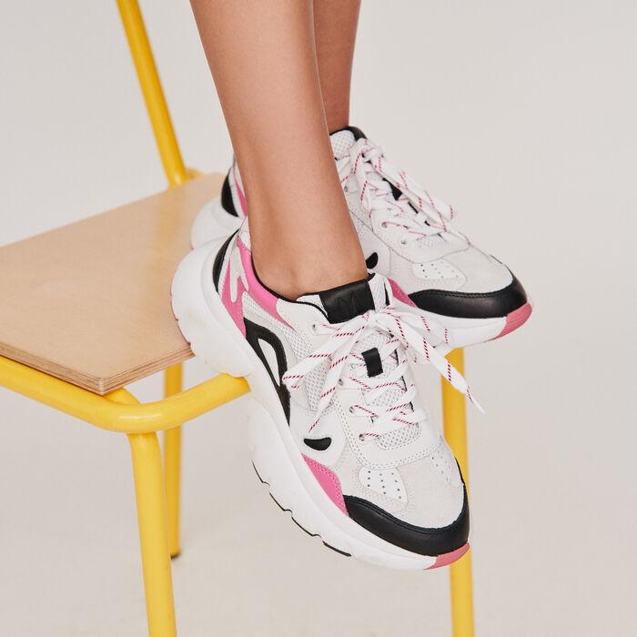 Sneakers W20 urbanos de cuero : Sneakers color Rosa