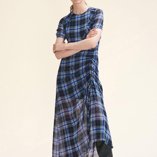 Vestido largo a cuadros - Vestidos - MAJE