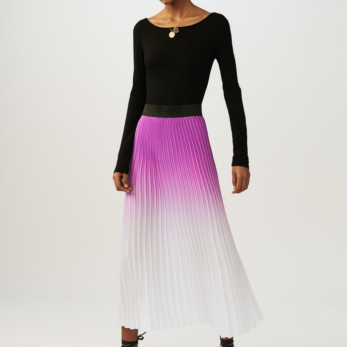Falda plisada con teñido anudado : Faldas y shorts color Violeta