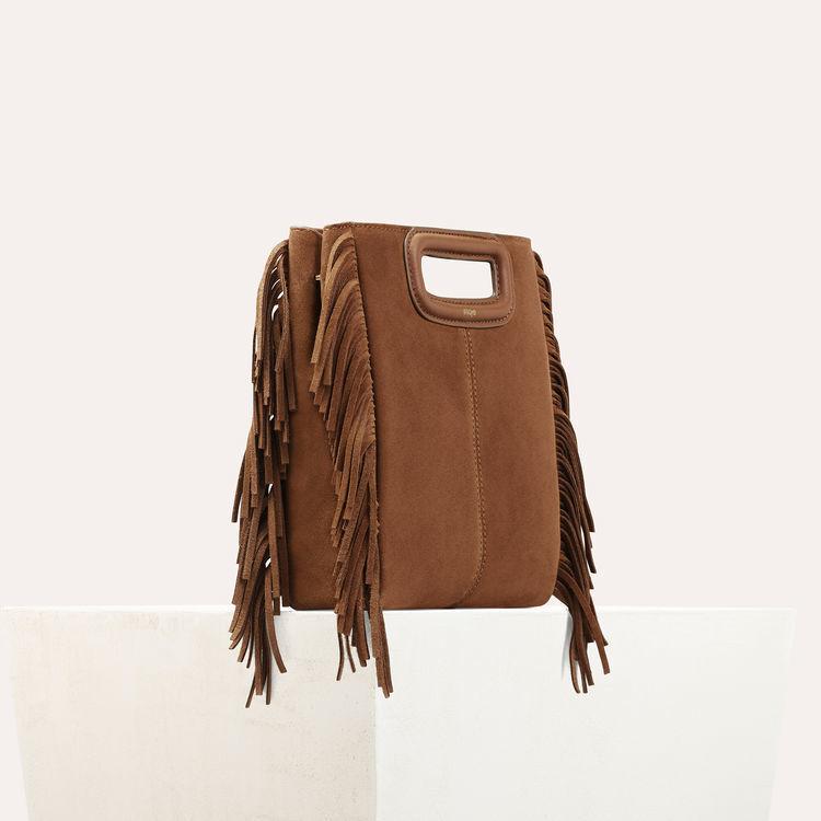 Bolso M de cuero de gamuza : Bolsos M color Camel
