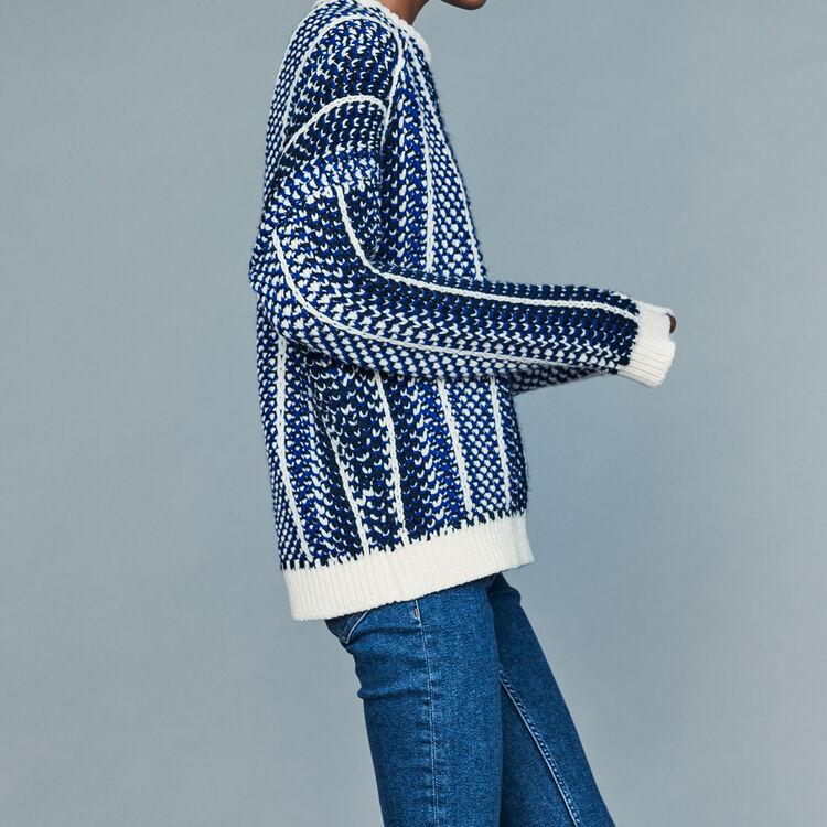 Jersey de punto Jacquard : Malla color Azul