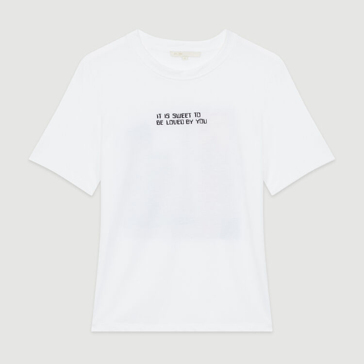 Camiseta con mensaje : T-Shirts color Blanco