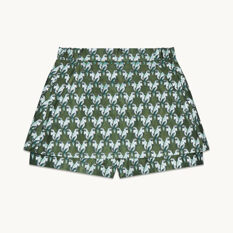 Falda pantalón de jacquard - 20% off - MAJE