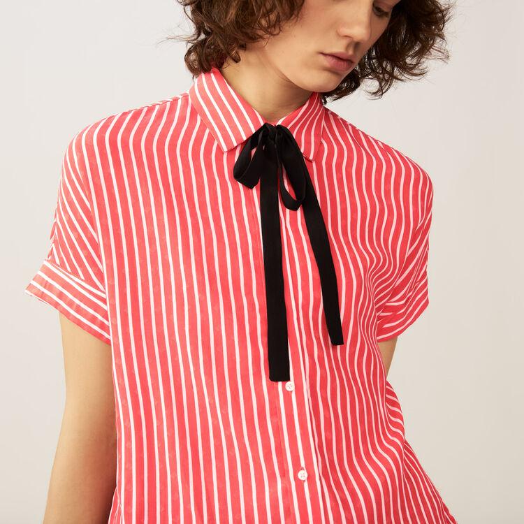Camisa de rayas con lazo corbata : Camisas color Rayas