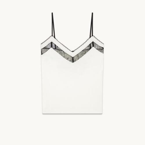 Camiseta interior con encaje - null - MAJE