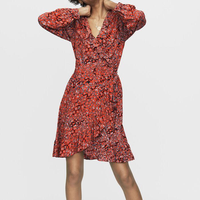 Vestido cruzado estampado leopardo : Nueva Colección color IMPRIME