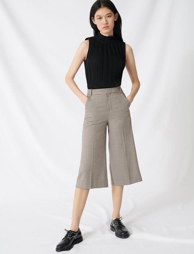 Short largo estampado Príncipe de Gales - SoldesFR_Jupes_shorts - MAJE