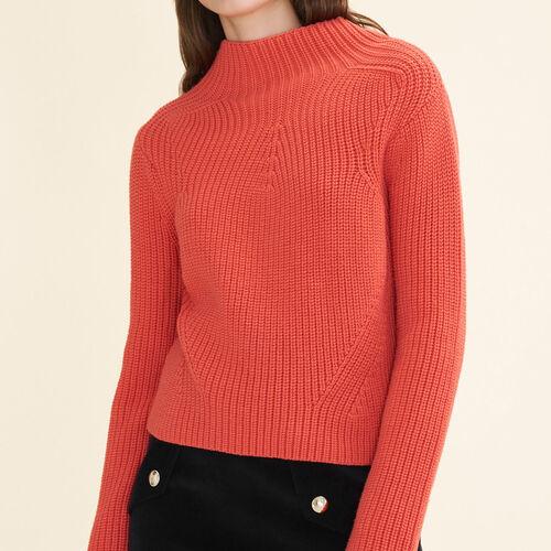 Jersey de punto grueso : Jerseys y cárdigans color Naranja