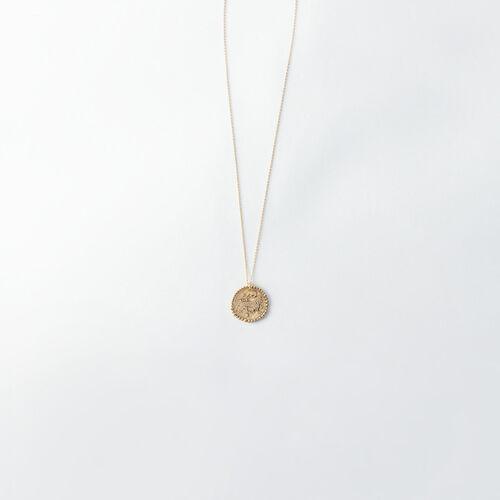 Collar de signo del Zodíaco Leo : Bisuteria color Latón Envejecido
