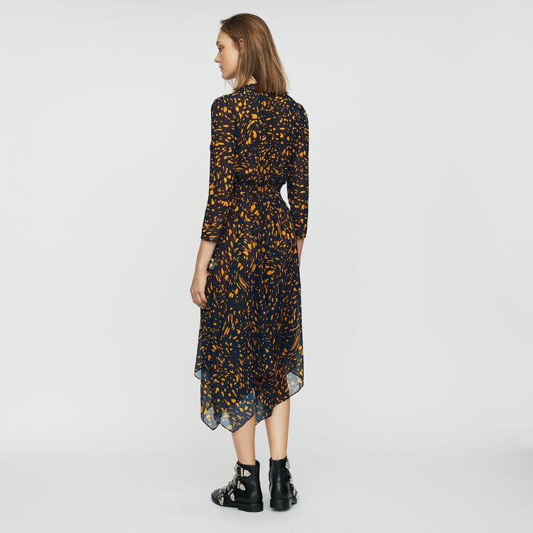 Vestido asimétrico estampado : Vestidos color IMPRIME