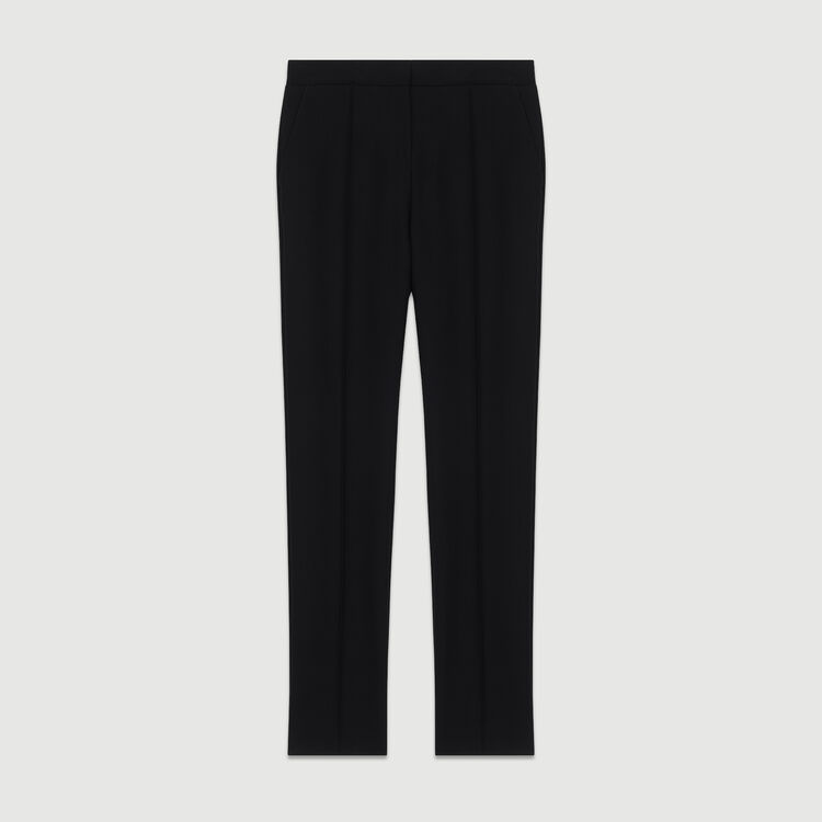 Pantalón recto de sastre : Pantalones color Negro
