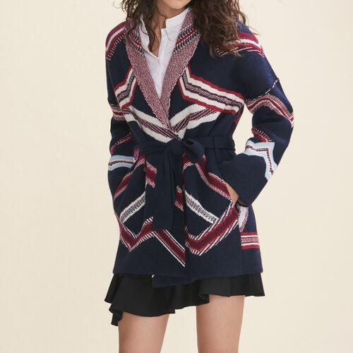 Cárdigan de jacquard : Jerseys y cárdigans color Azul Marino