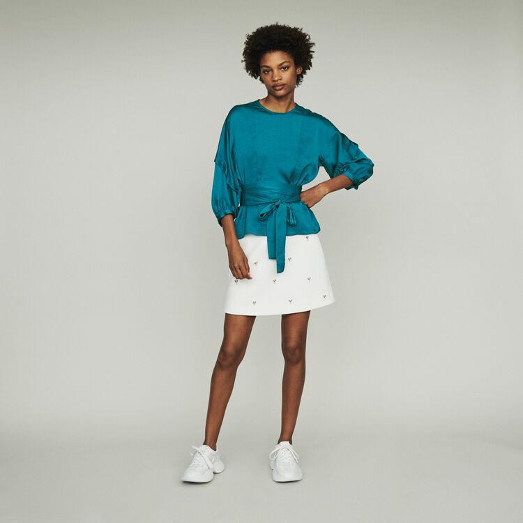 Top, posibilidad de anudar a la cintura : Tops y Camisas color Azul