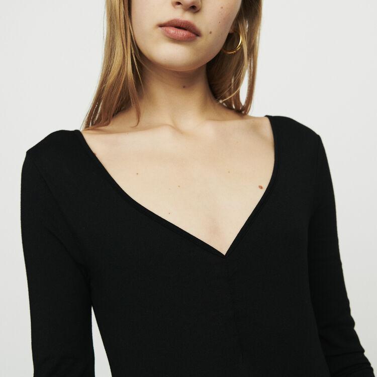 Body de mangas largas : T-Shirts color Negro