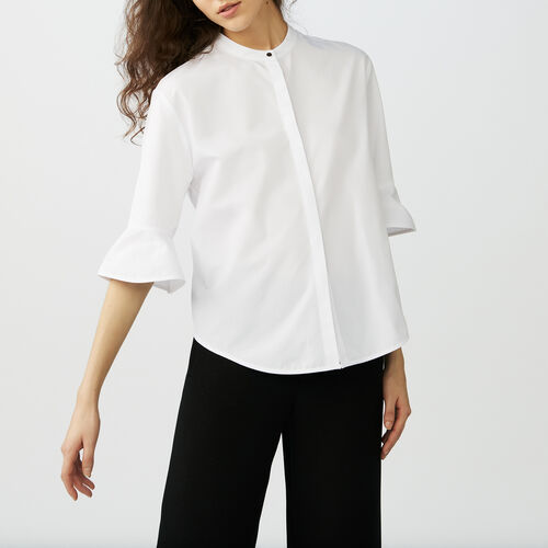 Poplin top : Camisas color Blanco