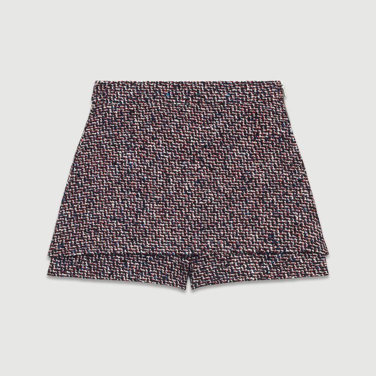Short en tweed efecto trompe-l'œil : Faldas y shorts color Jacquard