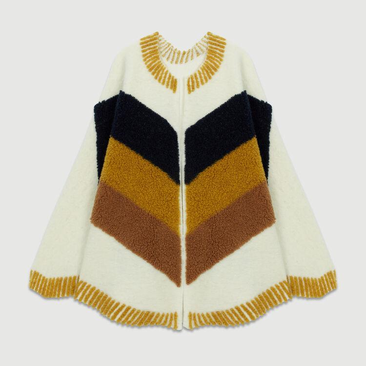 Poncho de piel de cordero vuelta : Pañuelos & Ponchos color Blanco