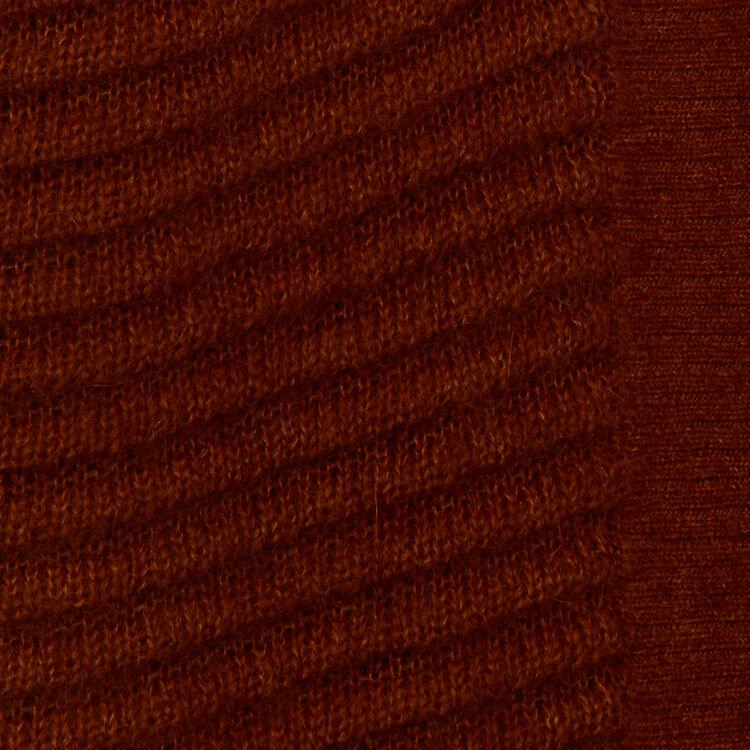 Cárdigan de mohair y alpaga mezclados : Malla color Caramelo