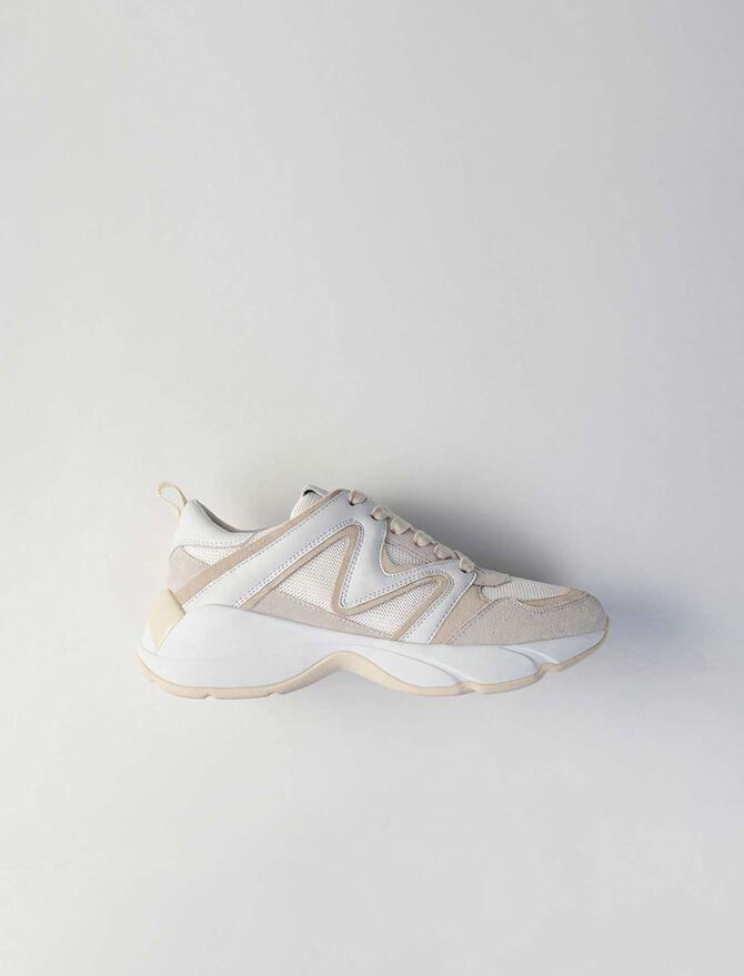 Sneakers W22 en mezcla de materias -  - MAJE