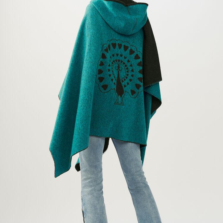 Poncho con capucha reversible : Pañuelos & Ponchos color Caqui