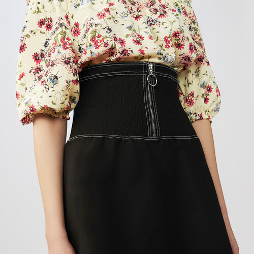 Short smock skirt : Faldas y shorts color Negro