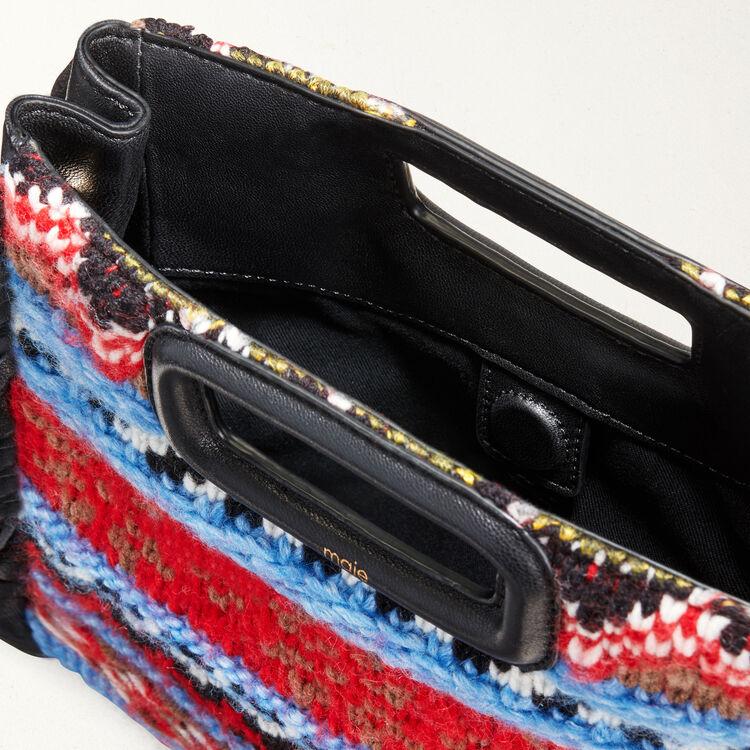 Bolso M en punto y cuero : Bolsos M color Azul