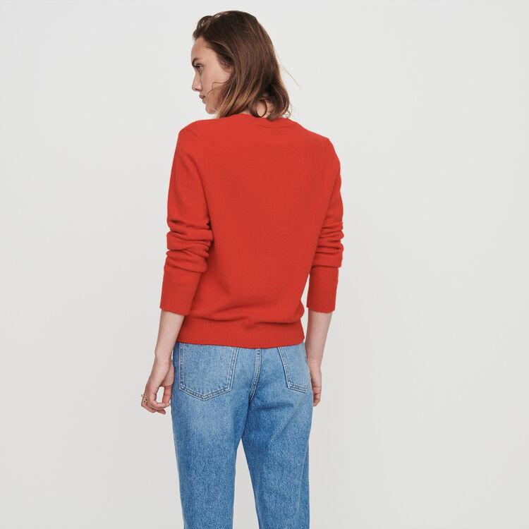 Jersey cuello redondo en cachemir : Jerseys y cárdigans color Rojo