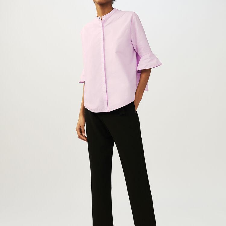 Camisa oversize de popelina : Camisas color Rosa