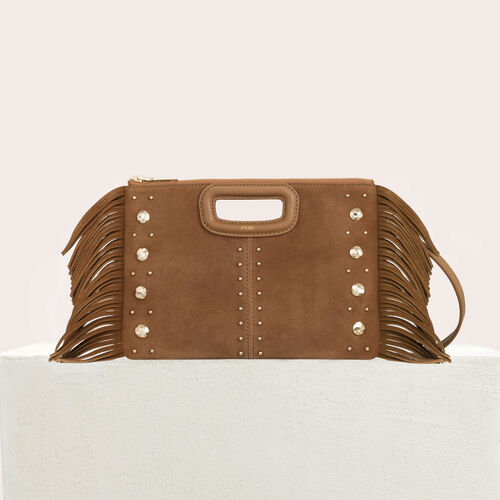 Cartera M Duo de gamuza y tachuelas : M Duo color Camel