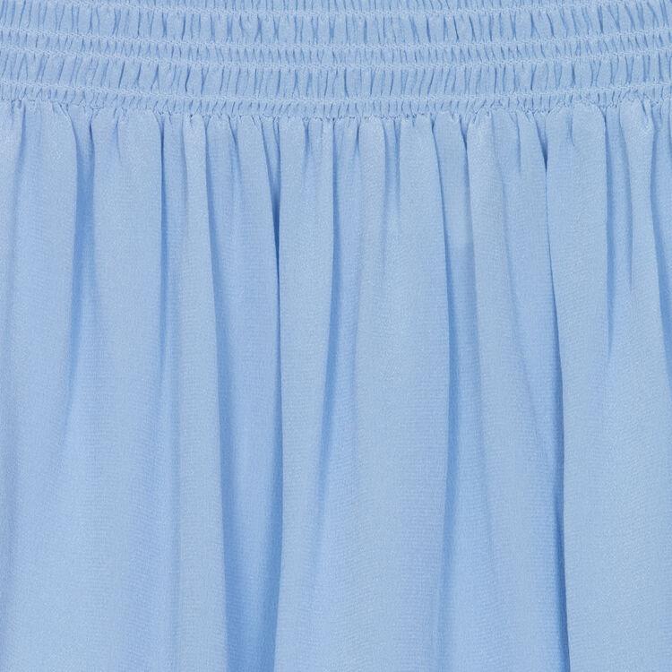 Top de ceda con hombros desnudos : Majexclusive color Azul Tejano