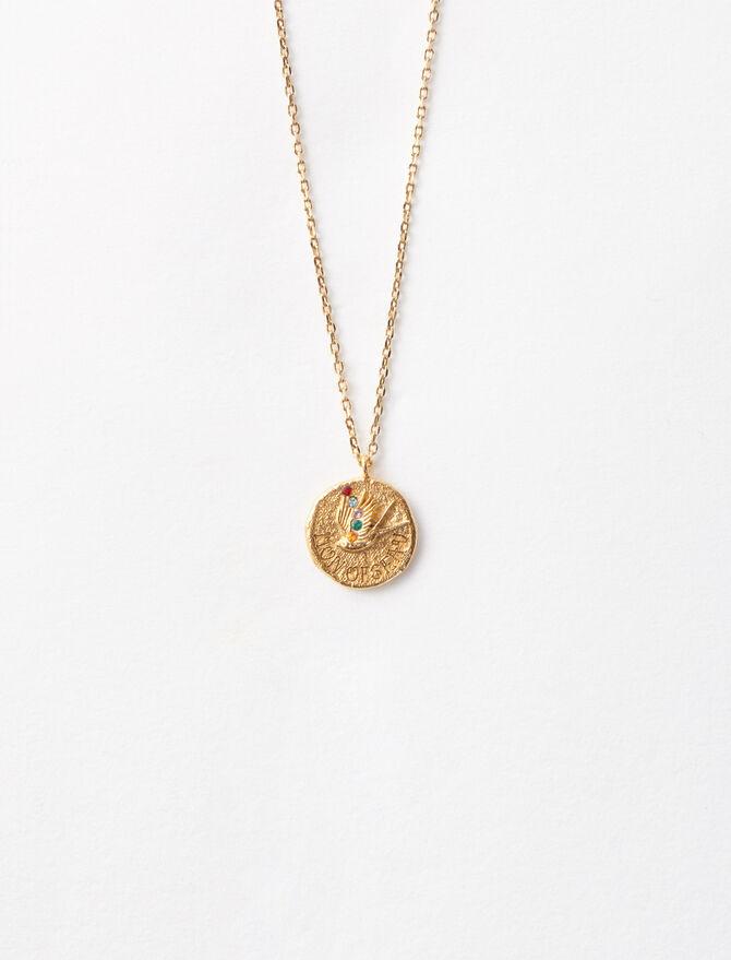 """Collar chapado en oro """"Mon oiseau"""" - Bisuteria - MAJE"""