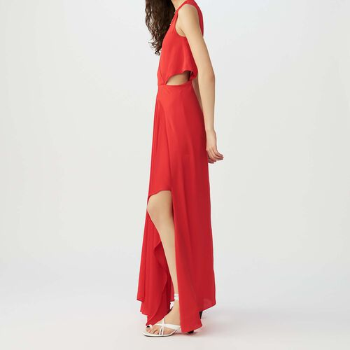 Maxi dress with flounce detail : Vestidos color Rojo