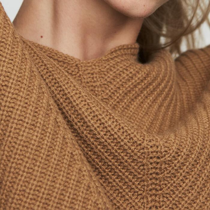 Jersey oversize de cachemira : Malla color Camel