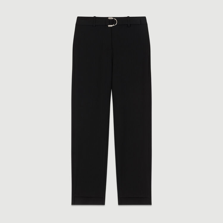 Straight cut trousers : Pantalones color Negro