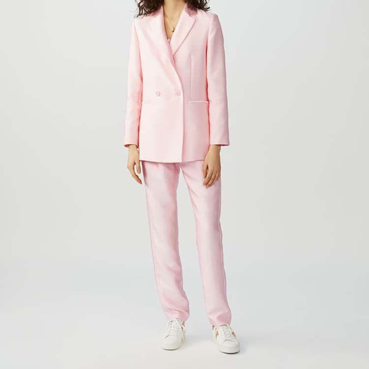 Blazer en tejido satiné : Chaquetas color Rosa