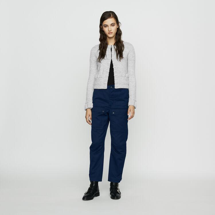 Pantalón ancho tipo Worker : Pantalones color Azul