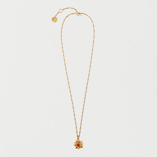 Collar con flor roja : Bisuteria color OR