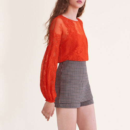 Top de encaje : Tops color Naranja
