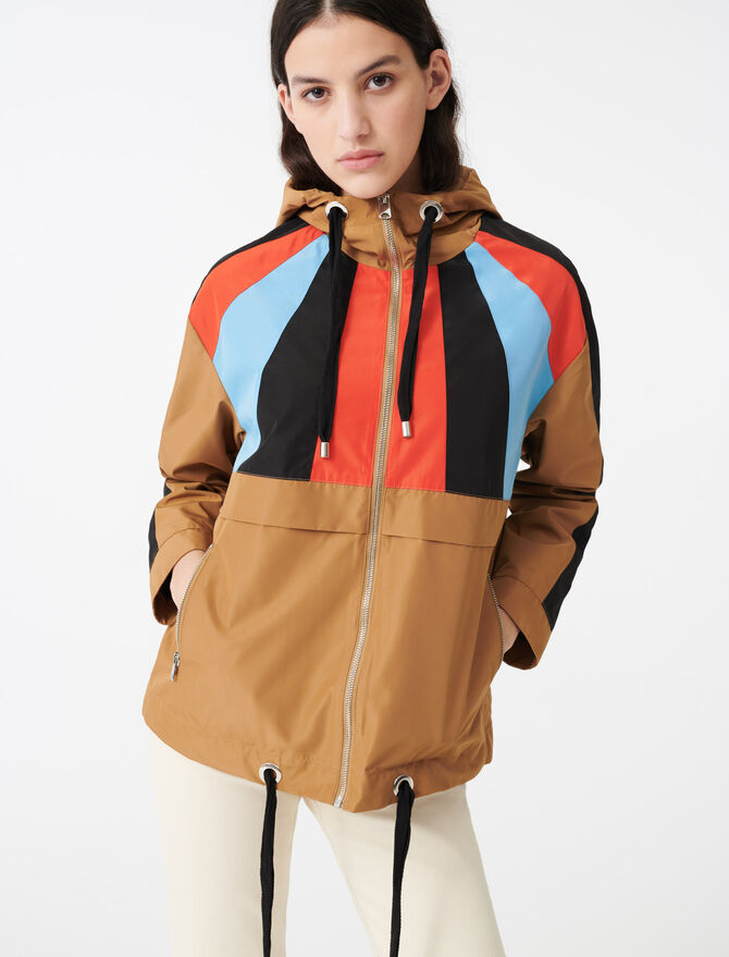 Cortavientos con capucha multicolor - Abrigos y Cazadoras - MAJE