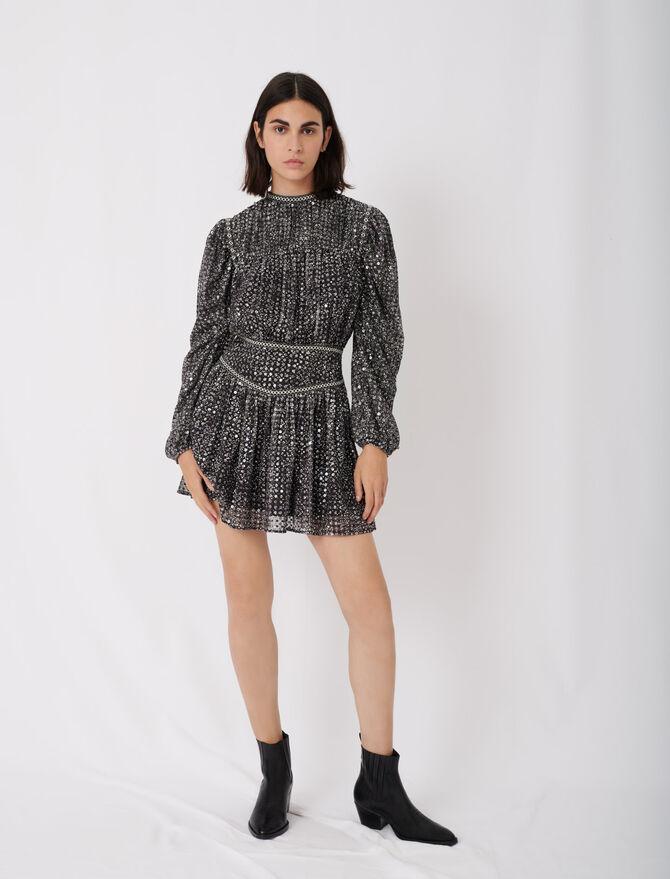 Vestido corto de lentejuelas - Nueva colección - MAJE