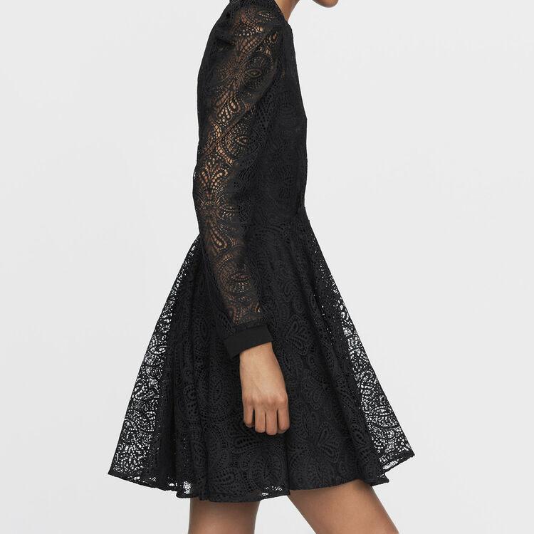 Vestido patinadora de encaje : Nueva Colección color Negro