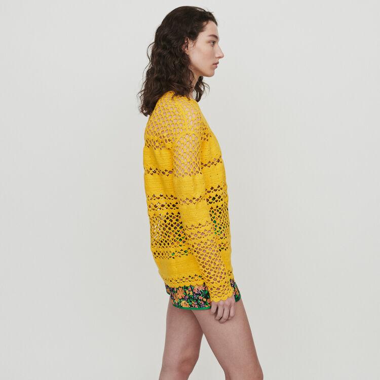 Jersey oversize en gachillo : Jerseys y cárdigans color Amarillo