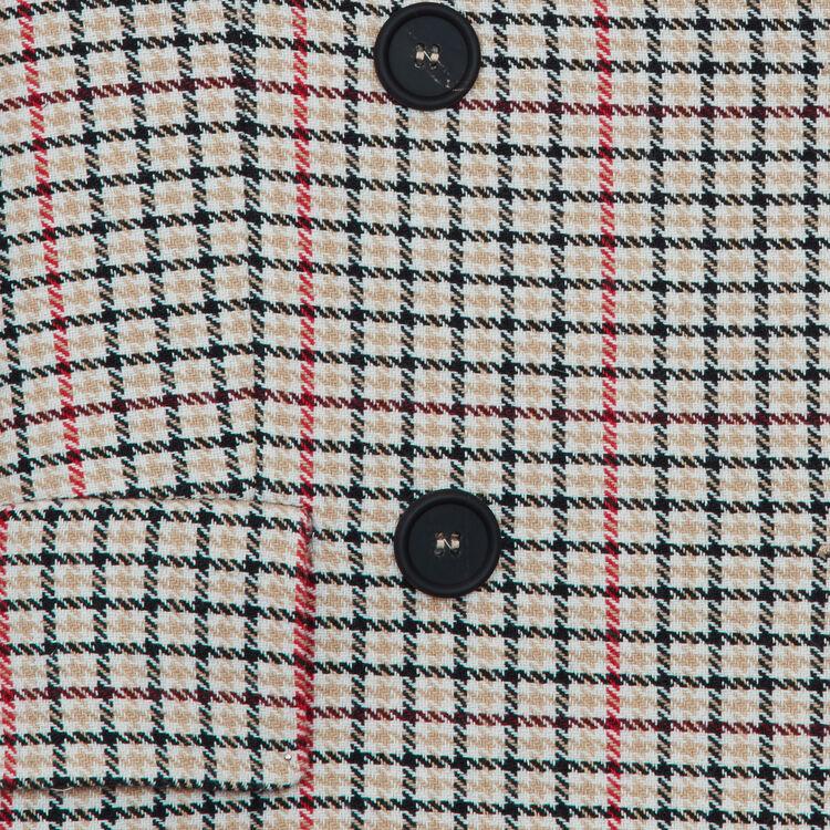 Blazer de cuadros en lana mezclada : Chaquetas color CARREAUX