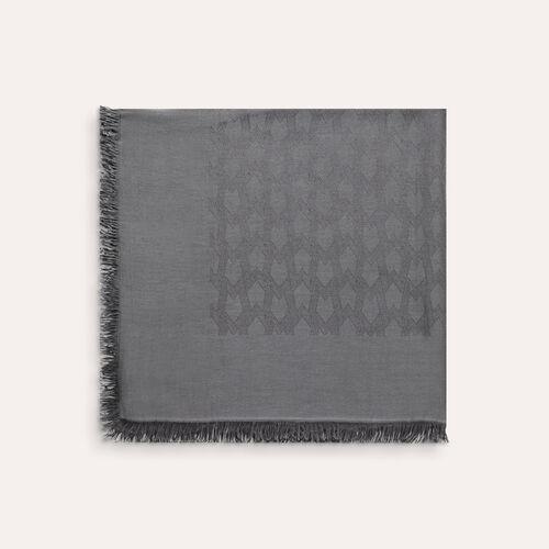 Chal de mezcla de algodón : Accesorios color Negro