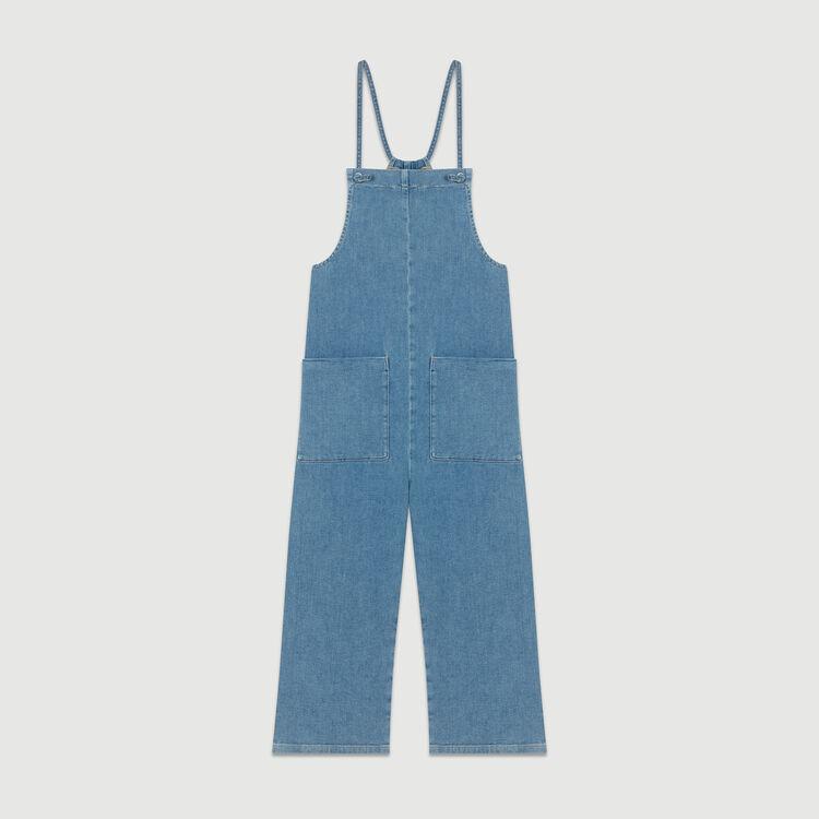 Peto de denim con tirantes finos : Jeans color Denim
