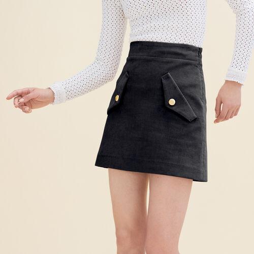 Falda corta de terciopelo : Faldas y shorts color Rosa