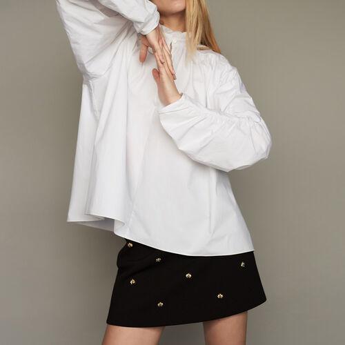 Blusa oversize con frunces : staff private sale color Blanco