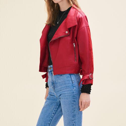 Jacke im Vintage-Stil aus Leder : Chaquetas y cazadoras color Rojo