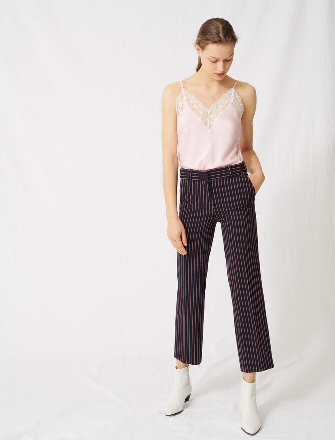 Pantalón de sastre de rayas - Pantalones y Jeans - MAJE